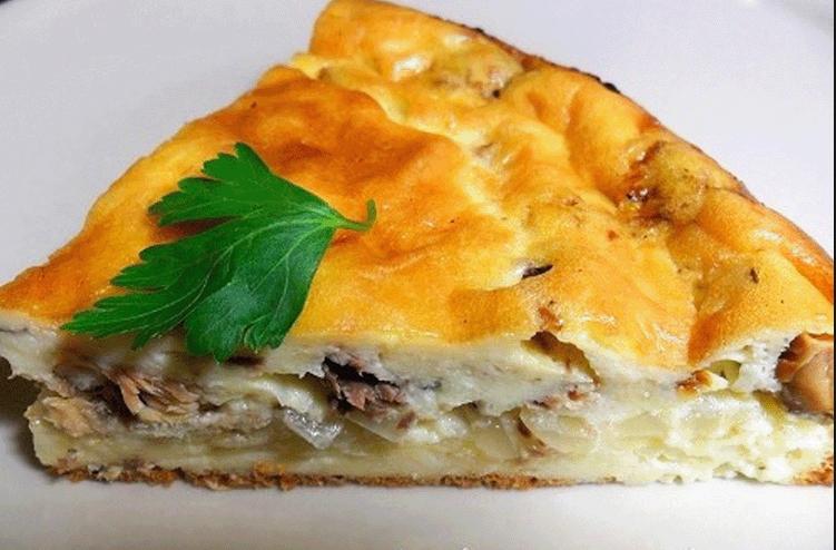 Пирог с рыбой консервированной и капустой рецепт