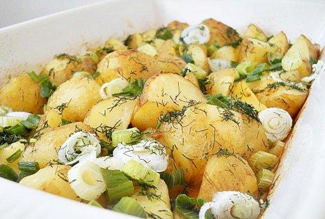 Картофель с луком.