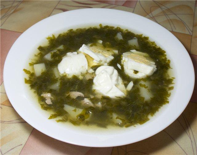 Щавельный суп.