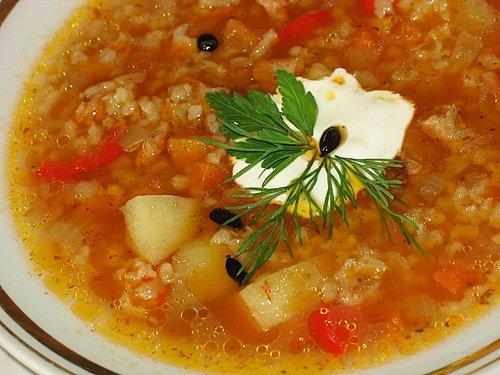Суп из кресса или суп-здоровье.