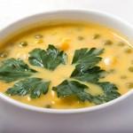 Гороховый суп со щавелем.