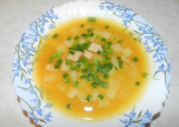 Суп-пюре по бретонски.