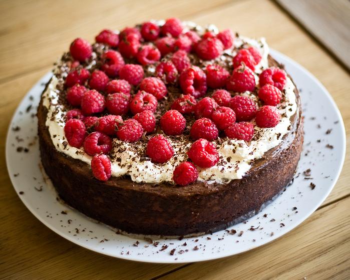Торт из  малины.