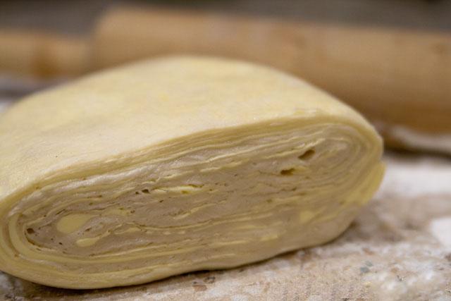 Слоеное тесто быстрого приготовления.