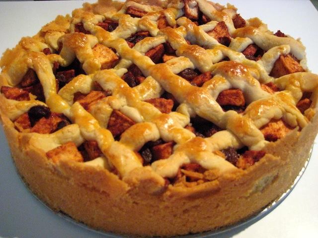 Творожно-цитрусовый пирог.