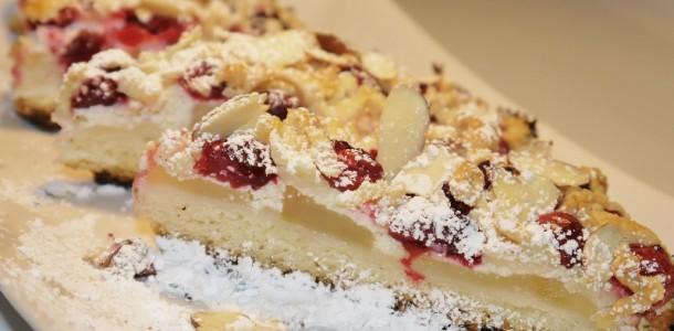 Яблочный пирог с клюквой.
