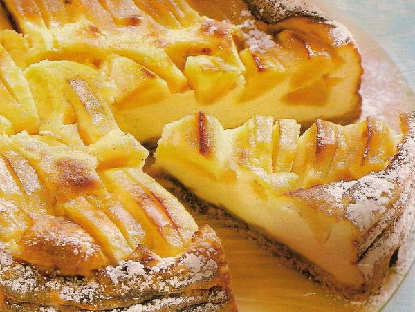 Песочный пирог с яблоками и ароматом апельсина.