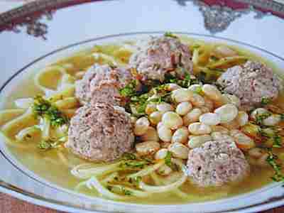 Суп «Хамраши по-узбекски».