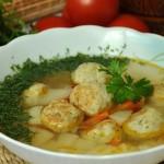 Суп рыбный с фрикадельками.