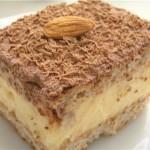 Пирог с ванильным кремом.