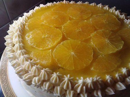 Апельсиновый пирог с маком.