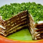 Печеночный торт с мивиной.