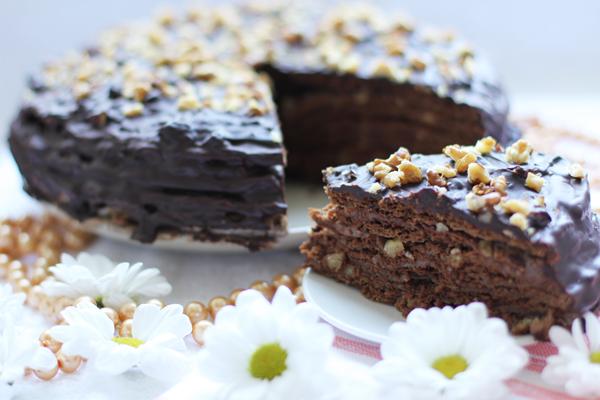 Двойной пирог с шоколадом.