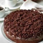 Шоколадно-кофейный тарт с черносливом.