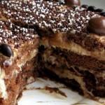 Постный шоколадно-лимонный пирог с маком.