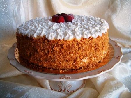 """Торт """"Клюквенный""""."""