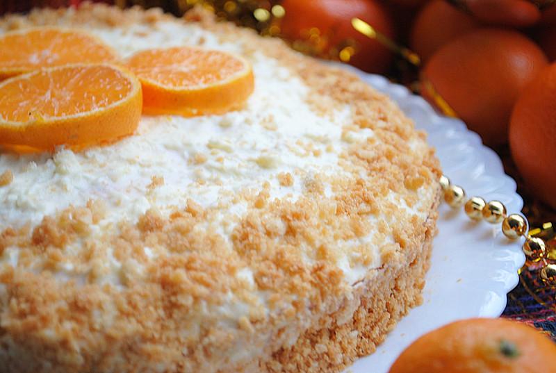 Мандариновый торт.