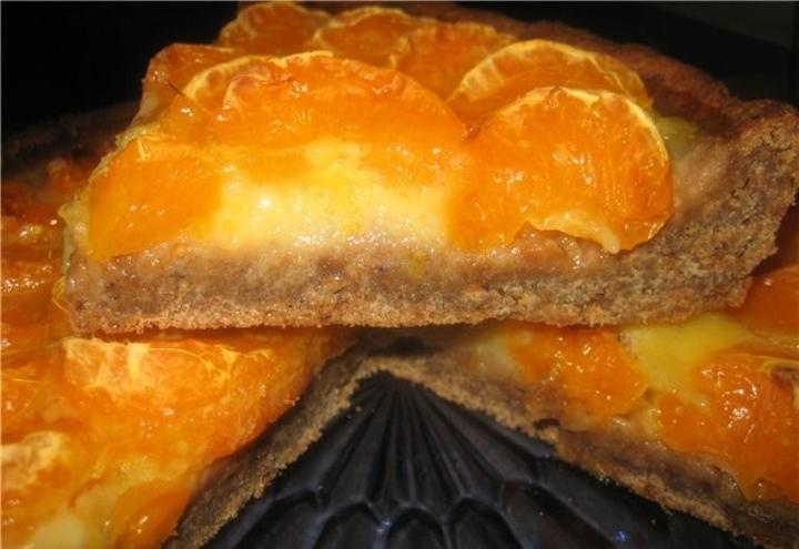Мандариново-ореховый торт.