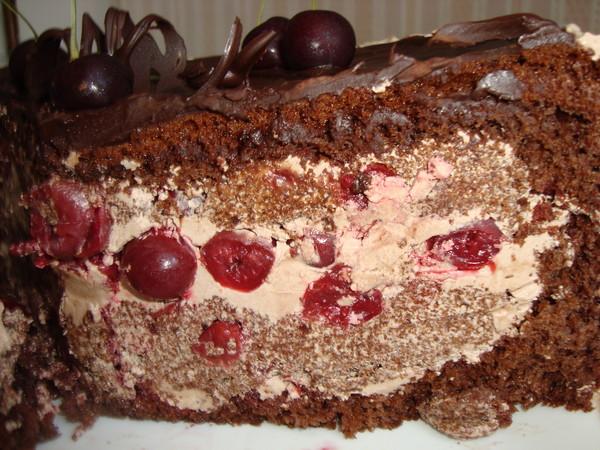 "Торт ""Пьяная вишня в шоколаде""."