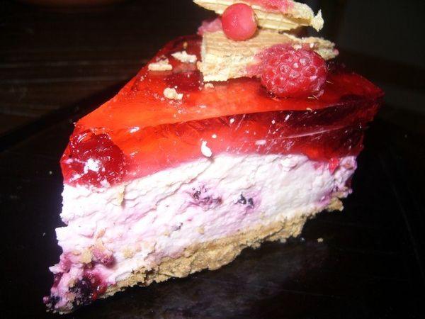 Йогуртовый торт с ягодами, пошаговое приготовление, фото