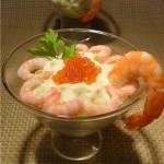 """Салат """"Новогодний"""" с морепродуктами."""
