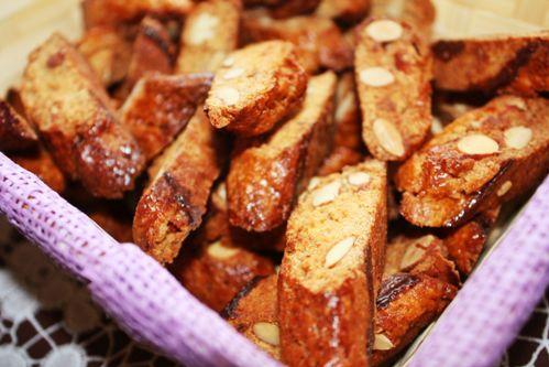Печенье кантуччи с миндалем.