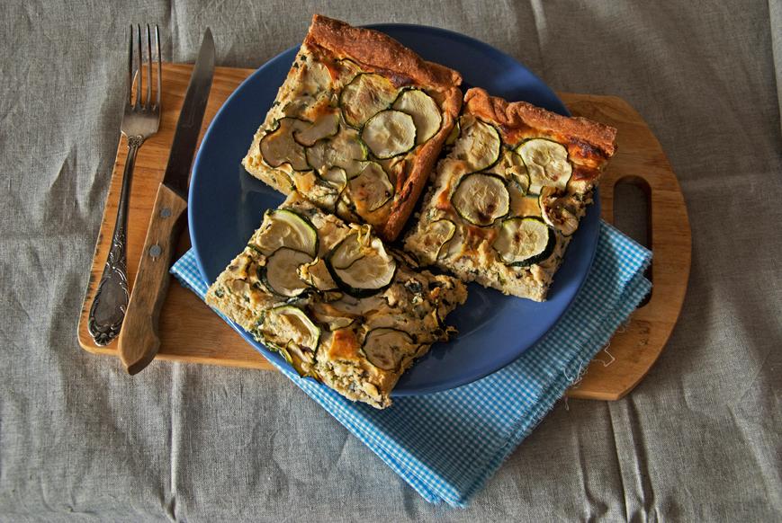 Генуэзский пирог с рикоттой и цукини.