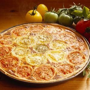 Тарт с томатами и сырным кремом по‑итальянски.