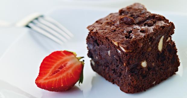 Брауни с темным шоколадом.
