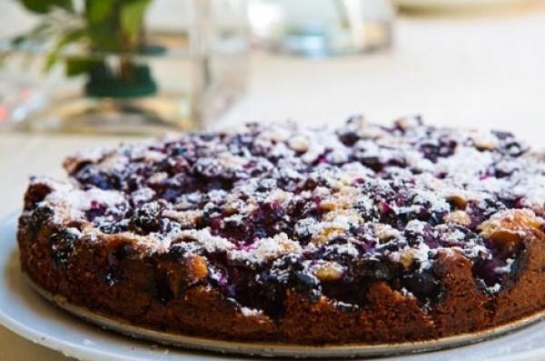 Финский черничный пирог.