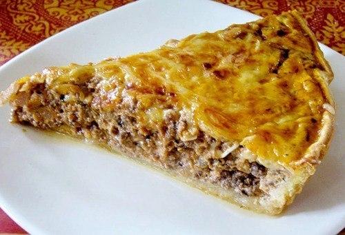 Греческий пирог с мясом.