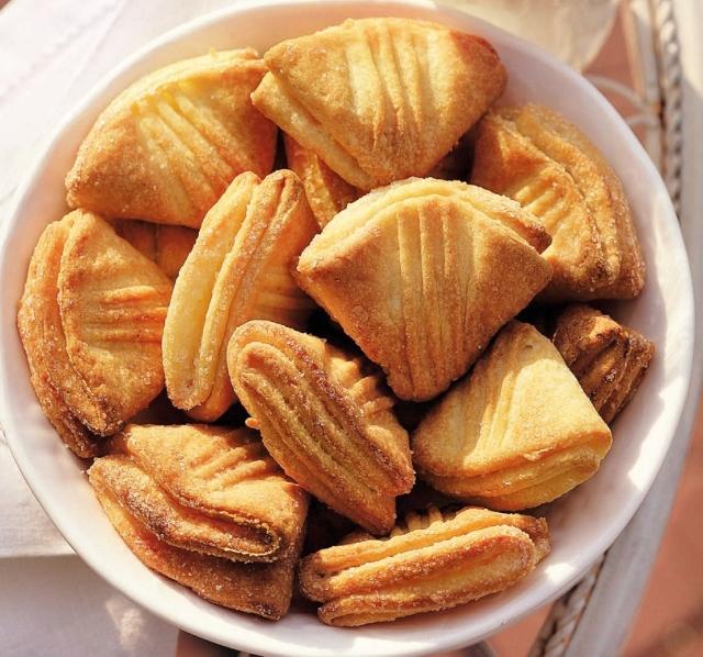 Творожное печенье ракушки / гусиные лапки.