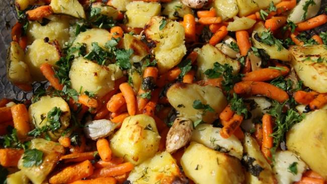 Печеные овощи по‑простому.