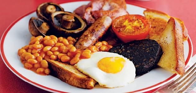 Полный английский завтрак.