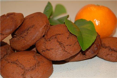 Шоколадно — апельсиновое печенье