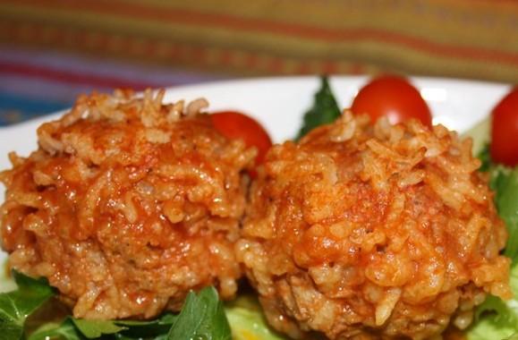 Ежики с рисом на сковороде рецепт с фото пошагово