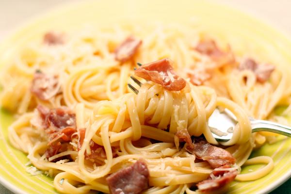 паста карбонара рецепт со сливками и беконом