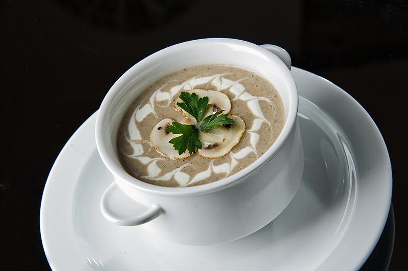 Крем-суп из шампиньонов и картофеля