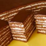 3723 Торт медово-шоколадный с орехами