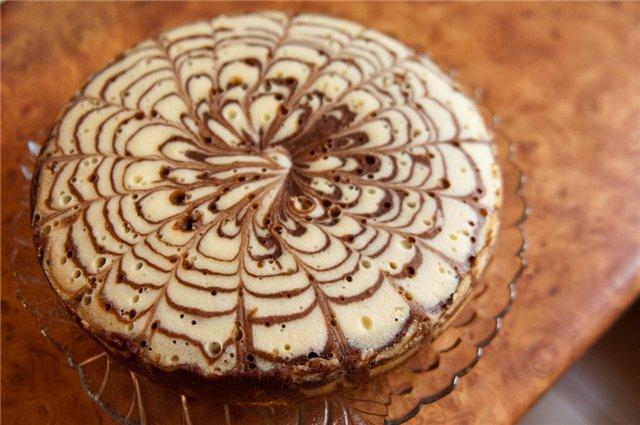 Сметанный пирог Зебра