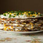 7259 Печеночный торт с морковью и луком