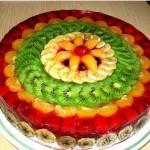 3862 Фруктовый торт-желе