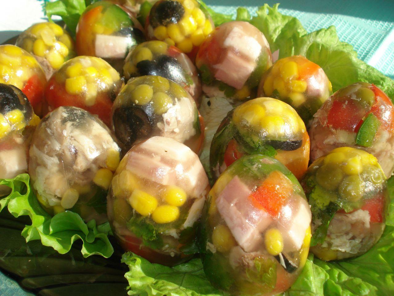 Заливное «Яйца Фаберже»
