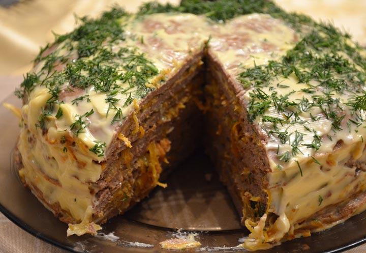 3932 Домашний печеночный торт