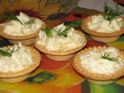3941 Тарталетки с сыром и чесноком