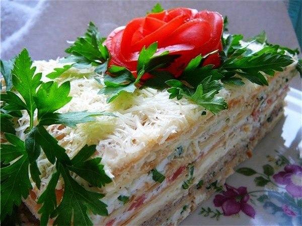 "4026 Рыбный торт ""Наполеон"""