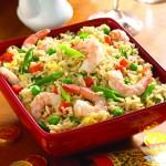 4117 Жареный рис с креветками и овощами
