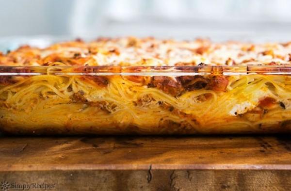 Запеканка со спагетти