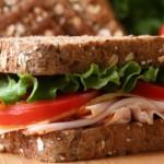 4150 Сэндвич с беконом, салатом и томатами