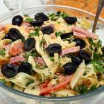 4189 Итальянский салат с сыром и макаронами